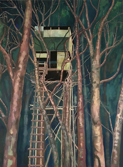 Cabane * 130 x 100 cm * Gouache sur toile * 2018