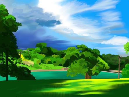Unfinished landscape
