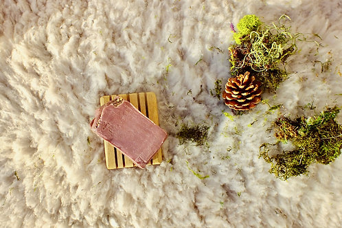 Australian red clay and chamomile buds soap