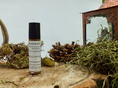 patchouli and sandalwood aromatherapy roller
