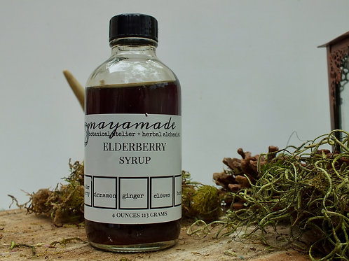 elderberry syrup. wintertime fortification against cold and wind.