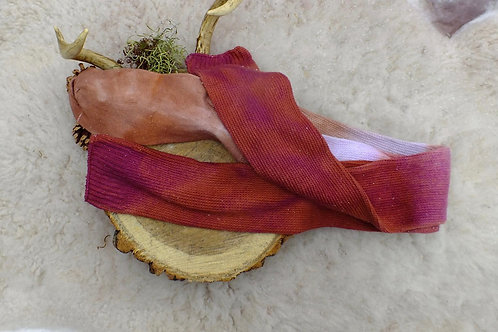 socks super long tall socks rust dark pink red lilac ombré