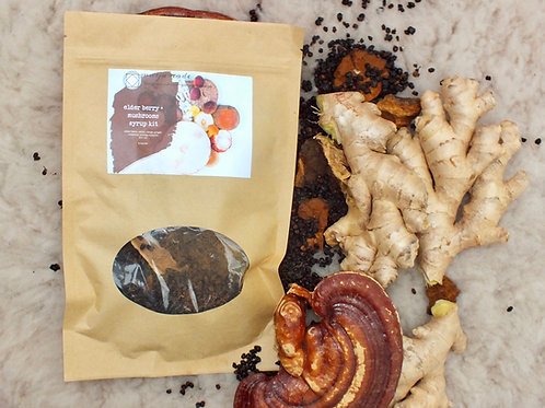 elderberry syrup kit with chaga + reishi for an extra boost