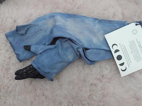 stormy blue ombré fingerless gloves, mittens, arm warmer, wrist warmer.