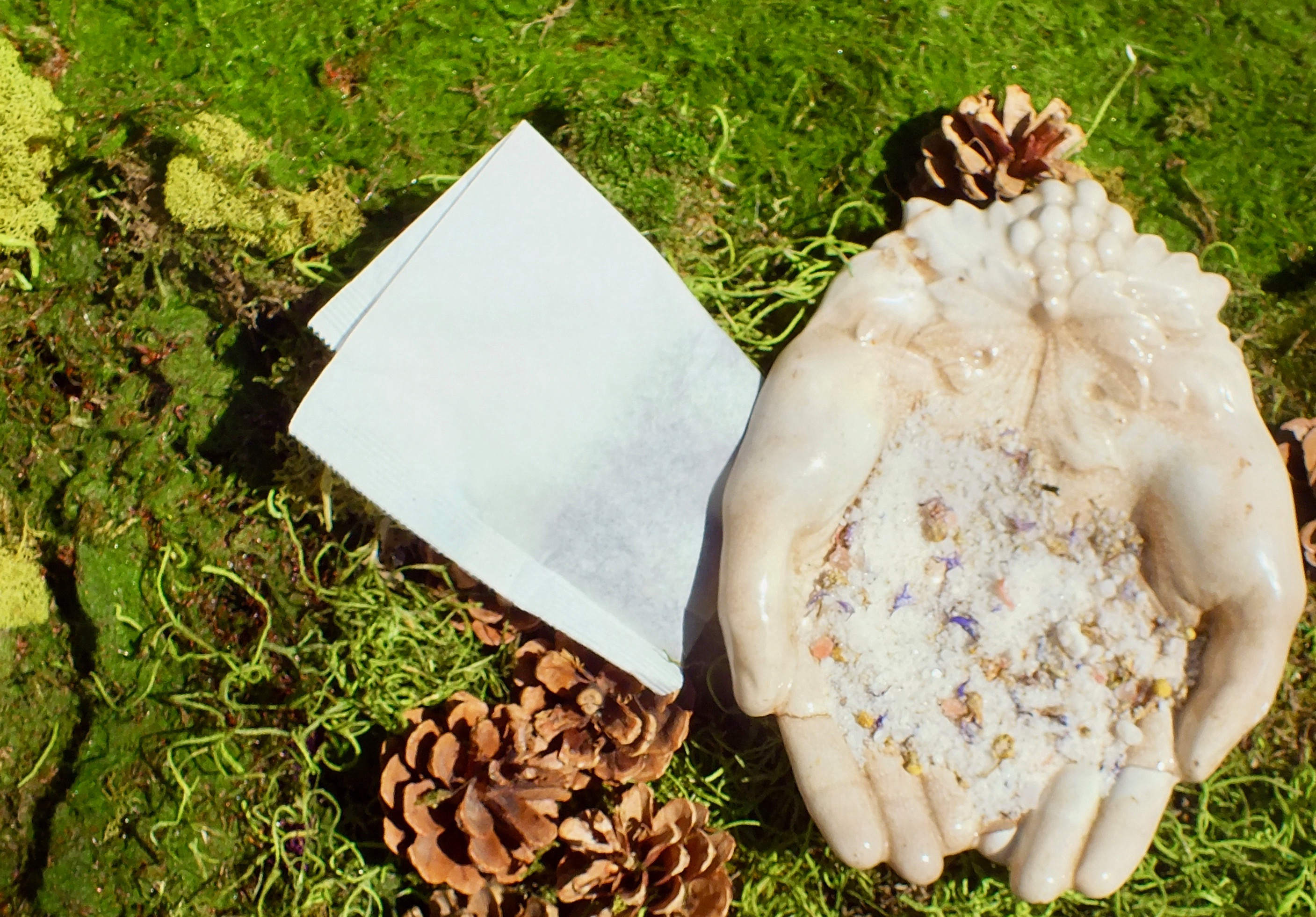 blue cornflower and chamomile bath soak