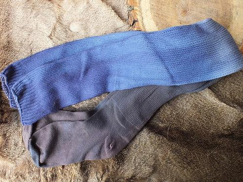 socks. purple tops into black bottom ombré super long tall socks 26 inches long