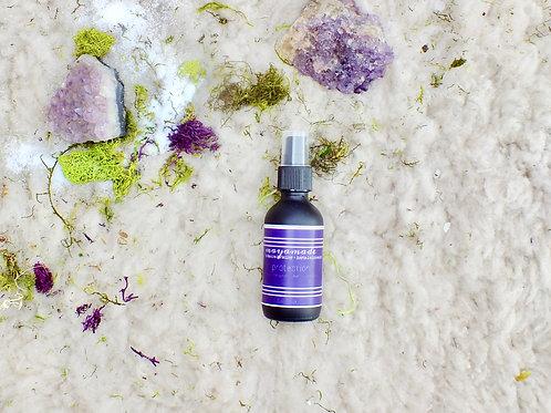 protection: aromatheraputic plant + gem mist