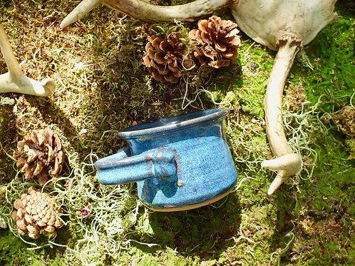 blue clay shaving mug
