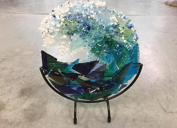 Glass Sculpture - Sea Foam