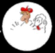 Le logo du restaurant savoyard La Meule Du Berger représente un berger savoyard qui porte un béret avec le drapeau de la Savoie et à ses côtés un mouton qui se lèche les babines.
