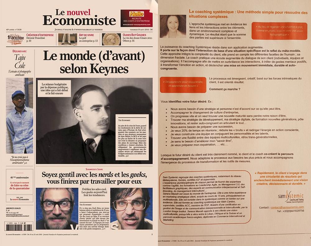 Le nouvel Economiste - Coaching Systemique