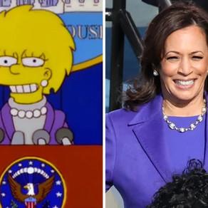 Os Simpsons Preveram a Moda do Dia da Inauguração de Kamala Harris?