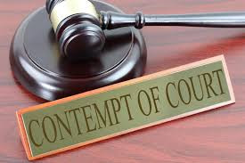 Contempt of Court: The Court and the Law