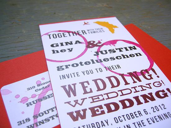 Destination vineyard invitation set.All invitations are custom. Please inquire for details.