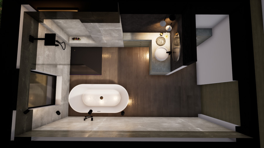 salle de bain top view projet dama