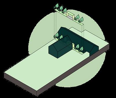 schema architecture concept flat design quentin leroij vegetation