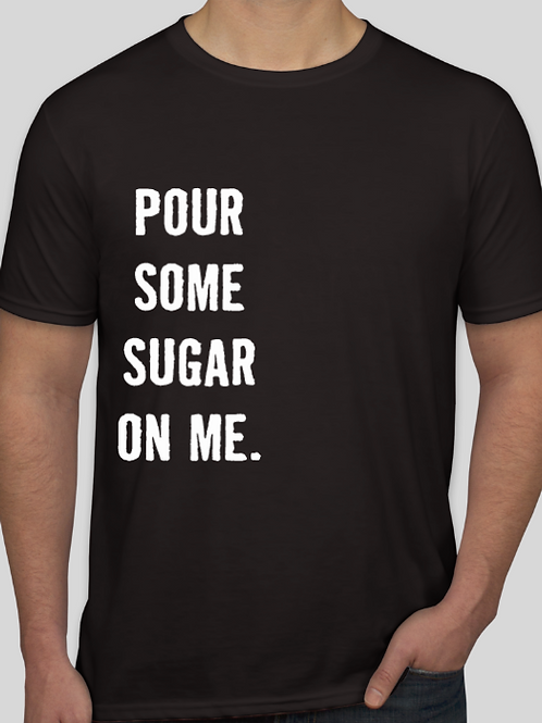 Mens Pour Sugar Black Soft T