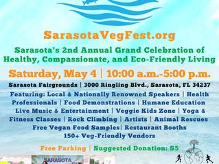 Farm Fresh Raw Foods goes to Sarasota FL VegFest 2019!
