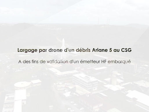 Largage par drone - validation et simulation
