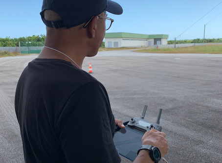 Topographie par drone au Centre Spatial