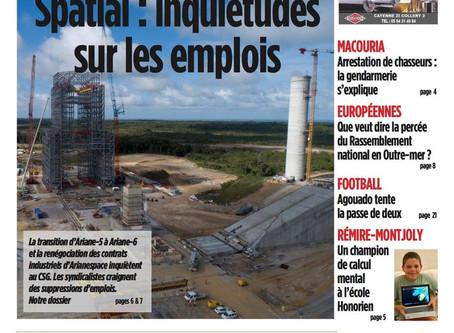 A la une du France Guyane!