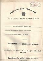 Escritura pública de compra e venda entre SAMN e Dr. Augusto Ruschi e sua esposa - 09/09/1972