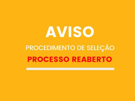 REABERTURA DO PROCEDIMENTO DE SELEÇÃO Nº004