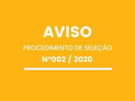 PROCEDIMENTO DE SELEÇÃO Nº002/SAMN/2020