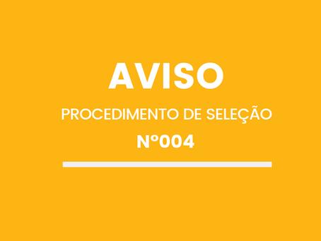 PROCEDIMENTO DE SELEÇÃO Nº004