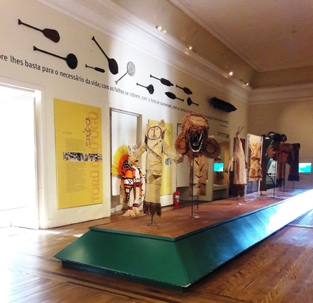 Sala da Etnologia Indígena Brasileira, as múltiplas esferas da cultura indígena brasileira