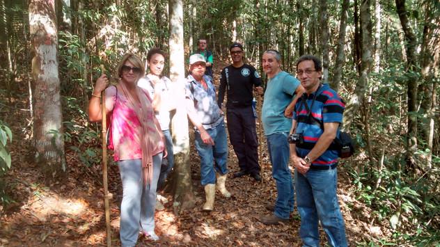 Equipe do Patrimônio da UFRJ em visita à EBSL ( setembro de 2015)