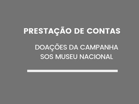 Prestação de Contas da Campanha SOS Museu Nacional