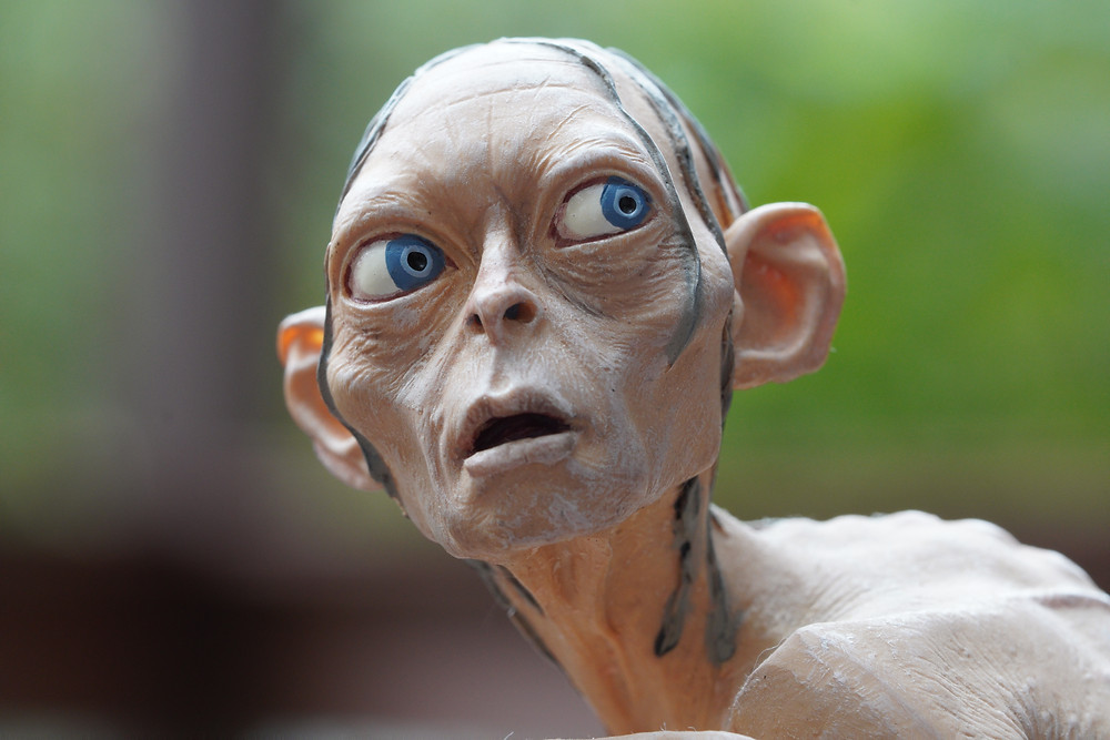 Gollum close up with Sony 90mm