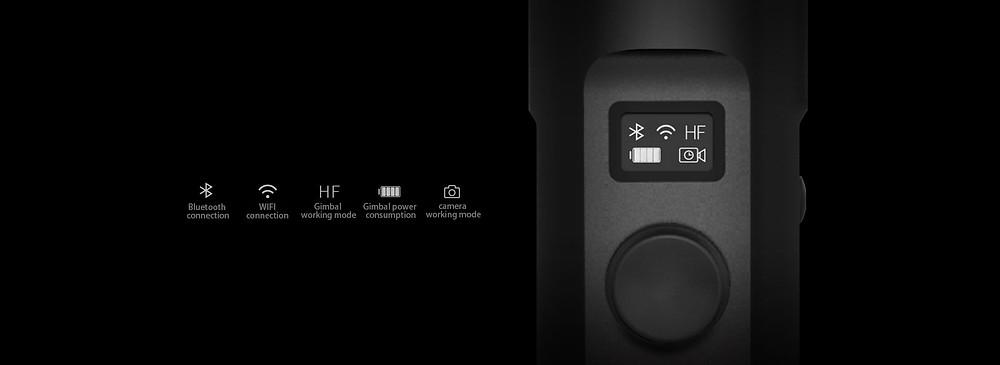 Feiyu-Tech G6 functions led screen