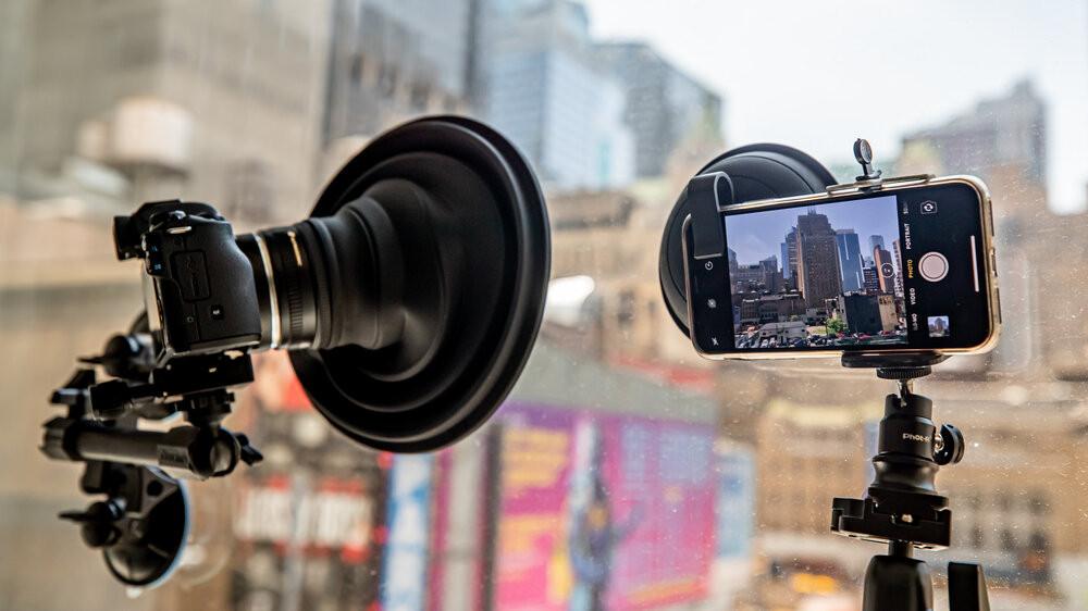 ultimate lens hood on camera