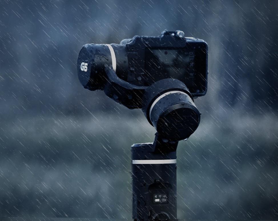 Feiyu-Tech G6 splash proof in the rain