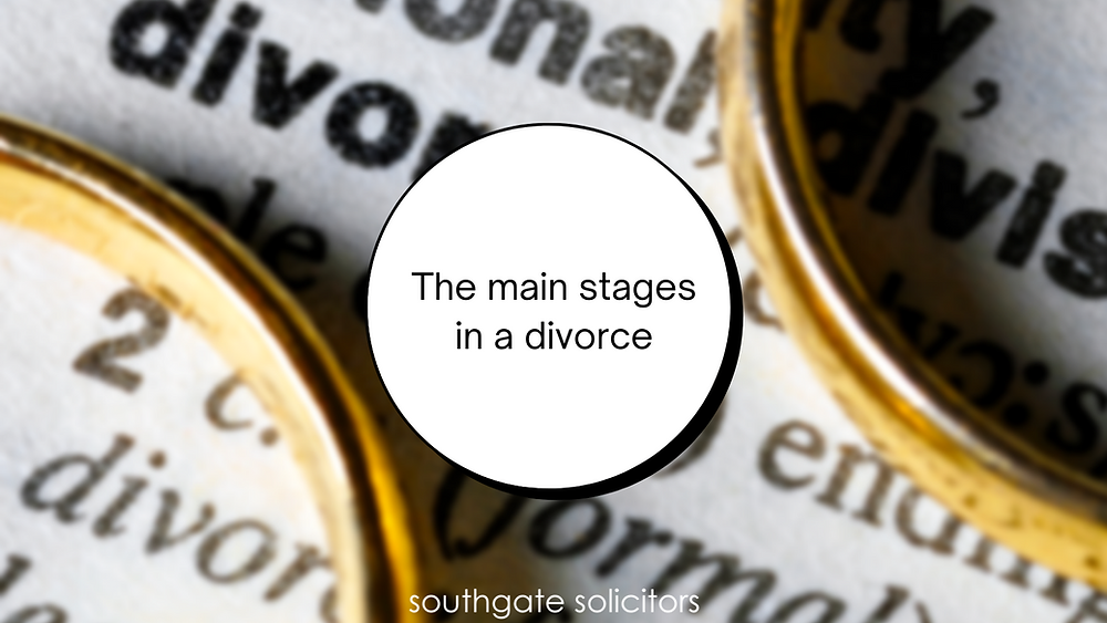 A guide to the main stages involved when you apply for a divorce