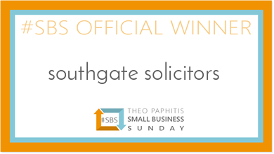 Small Business of the Week Award for southgate solicitors!