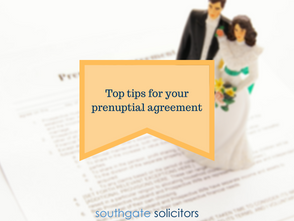 Top tips for your prenuptial agreement