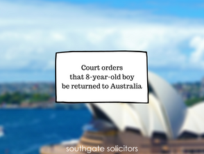 Court orders that 8-year-old boy be returned to Australia