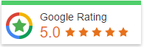 We are rated Five Stars on Google