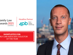 Antony Wilkinson shortlisted for Associate Solicitor of the Year Award