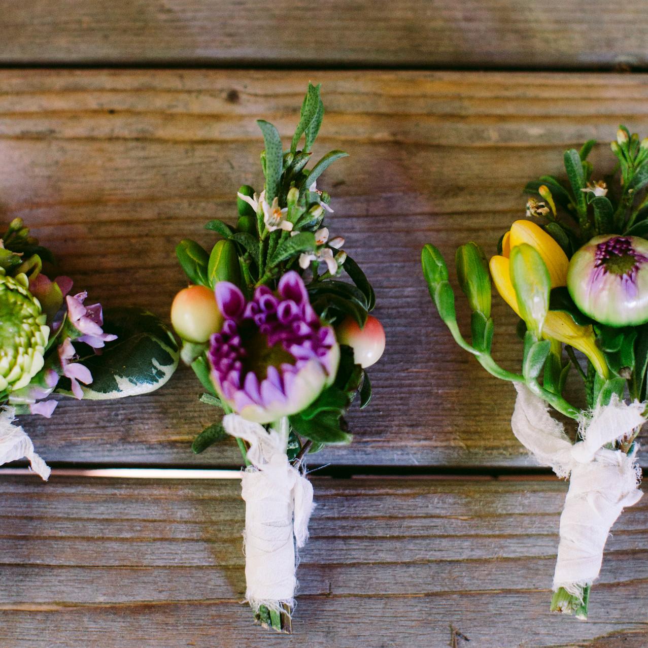 Spring Wedding Boutonnieres