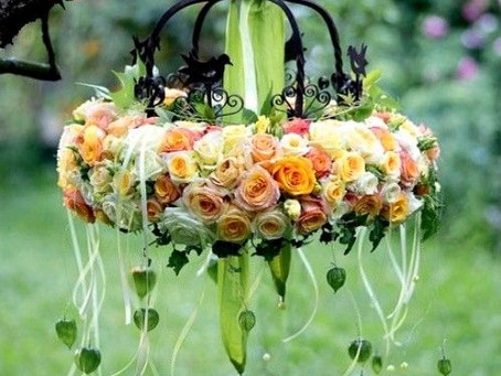Wedding Trends: Floral Chandeliers