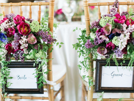 Floral Friday: 7 Inspirational Sweetheart Chairs For Your Romantic Wedding Reception