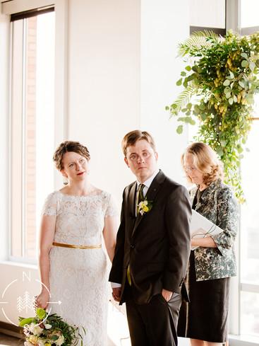 Green Seattle Wedding Ceremony