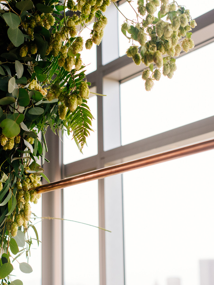 Wedding Arch with Hops Vines