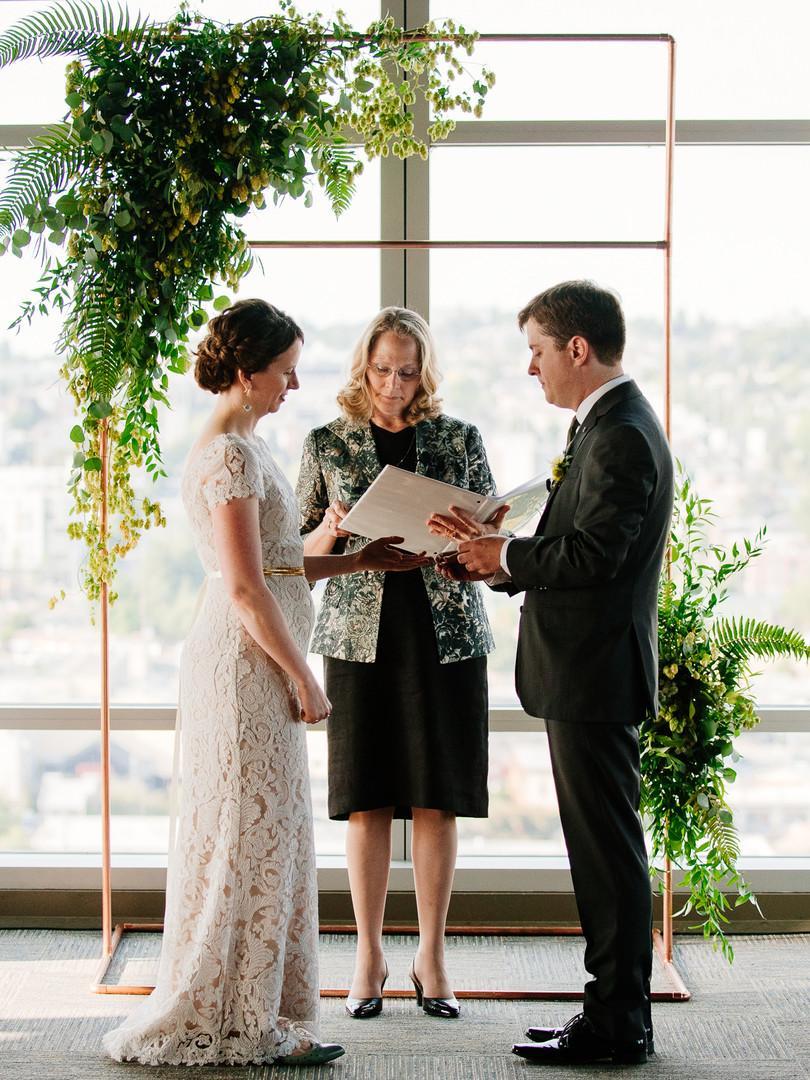 Green Seattle Wedding Arch