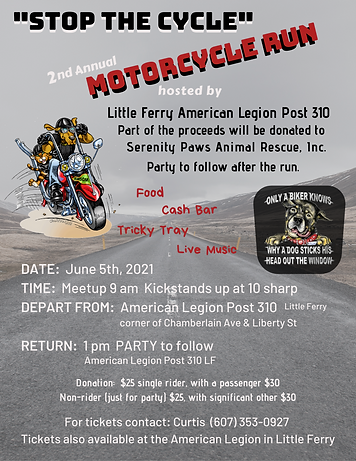 Animal rescue fundraiser NJ dogs cats motorcycle biker