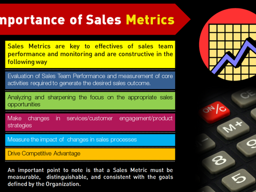 Sales Metrics You Need To Know.